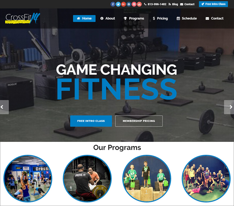 CrossFit 14 Wesley Chapel FL WordPress Website Design