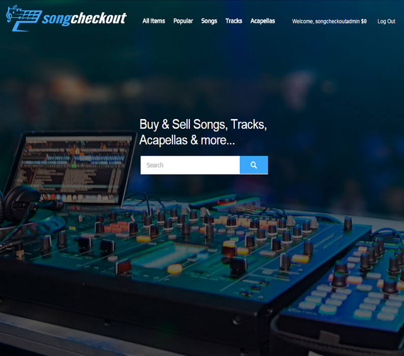 Song Checkout WordPress Design