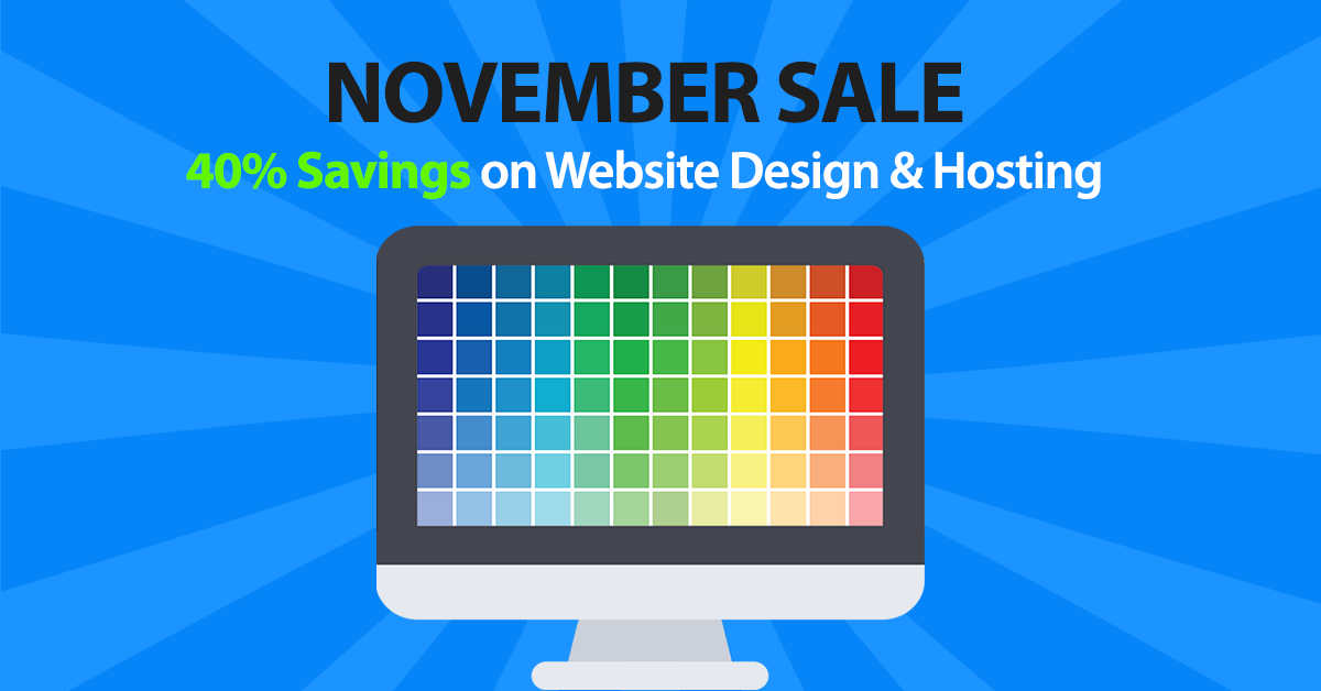 Web Design November Sale