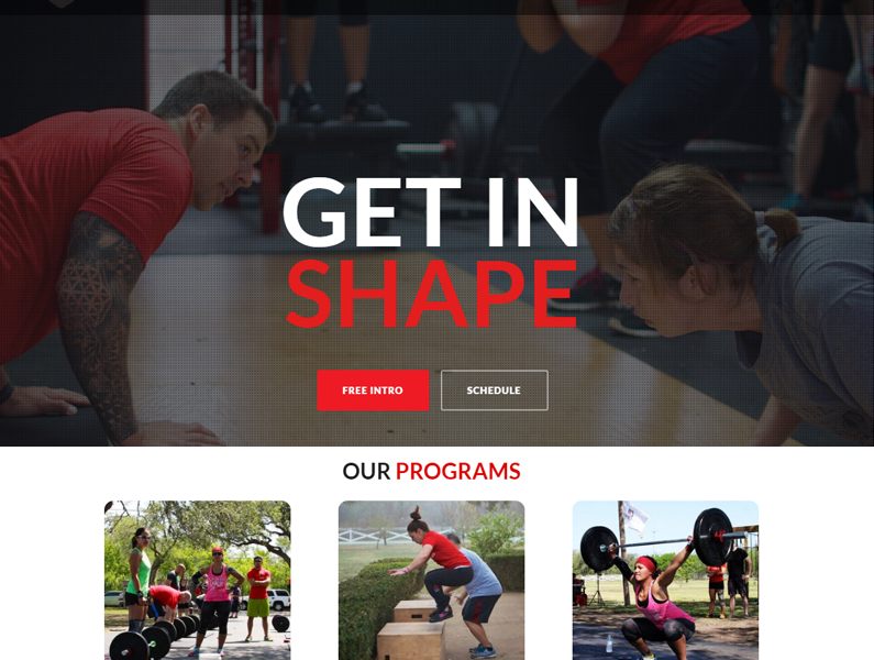 HeadStrong CrossFit Web Design